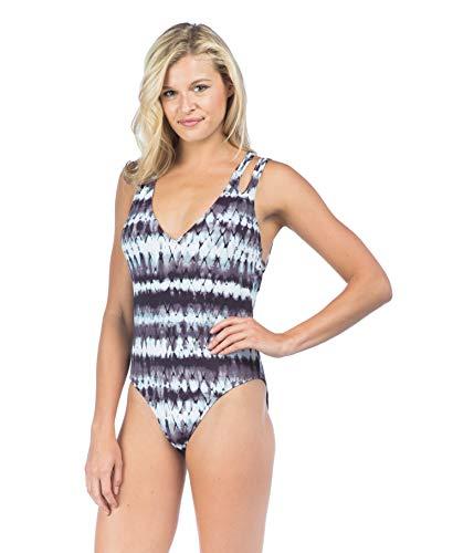 Hobie Junior's Multi Strap Macrame One Piece Swimsuit, Raisin, Extra Large
