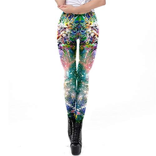 Weichunya Moda para Mujer y niña 3D Digital Verde Tigre Clolorful Rop