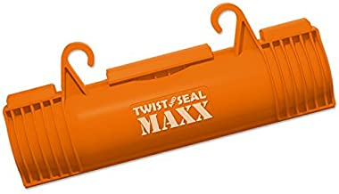 Twist and Seal Maxx (2 Pack) - Heavy Duty Extension Cord Protection - Orange