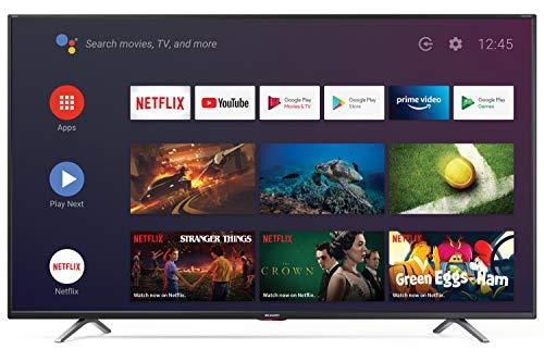 SHARP Android TV 65BL6EA, 164 cm (65 Zoll) Fernseher, 4K Ultra HD LED, Google Assistant, Amazon Video, Harman/Kardon Soundsystem, HDR10, HLG, Bluetooth