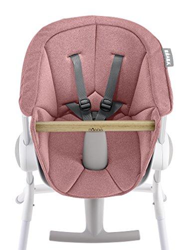 Béaba, Cojin para trona de bebe Up & Down, Asiento textil, 6 meses a 3 años, Ultracómodo, fácil de mantener, Rosa