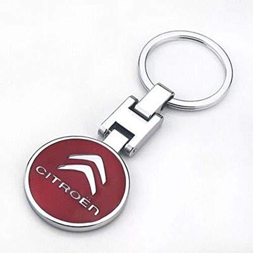 Fitracker 3D-Auto-Logo, Metalllegierung, doppelseitig, Auto-Schlüsselanhänger, Zubehör mit Geschenk-Box, citroen*