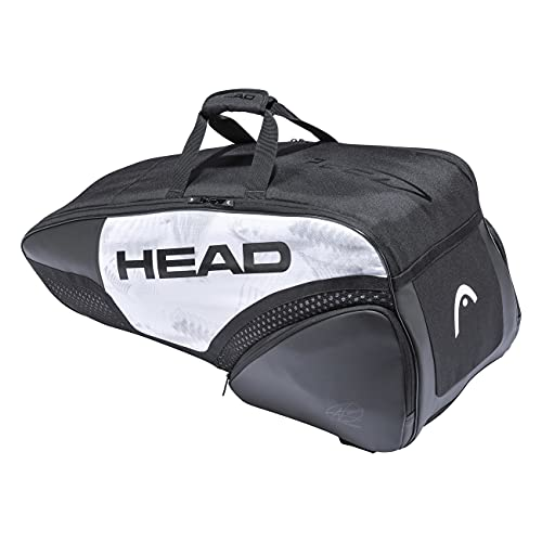 HEAD Djokovic 6R Combi Tennis Racquet Bag - 6 Racket Tennis Equipment Duffle Bag