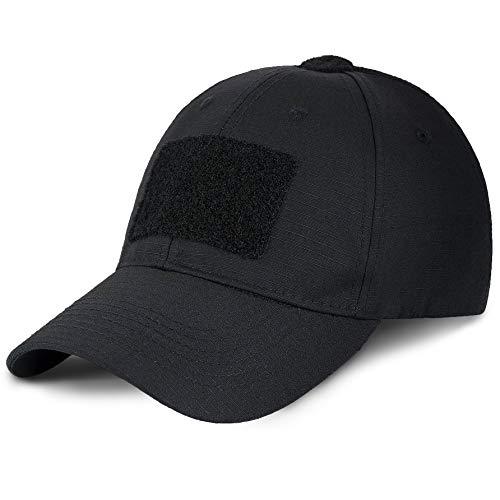 M-Tac Black Operator Hat - Military Cap Tactical Hats for Men Military Hats (Black, M)