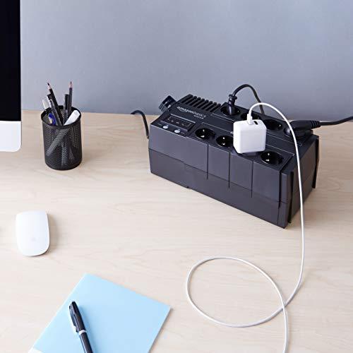 Amazon Basics – USV, Line-Interactive, 400VA, mit Abschalt-Software und Überspannungsschutz, Schuko-Stecker