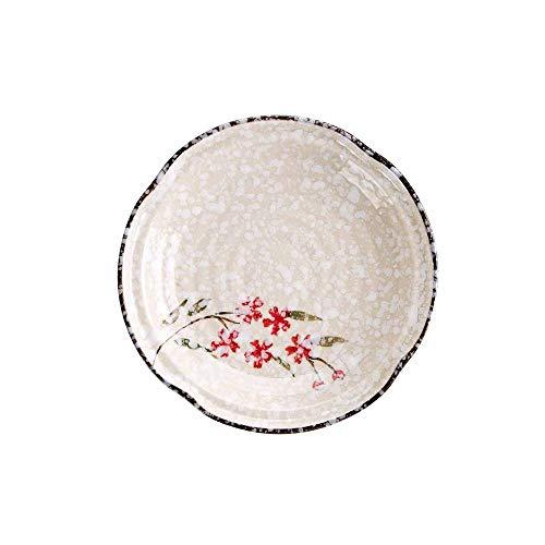 Platos De Postre 1 unid cena de cerámica placas bocadillos plato plato plato creativo vajilla postre placa plato ensalada platos Plato Llano (Color : 8inch A)