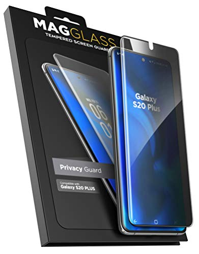 Magglass Galaxy S20 Plus Privacy Screen Protector - Anti Spy Fingerprint Resistant Tempered Glass Guard for Samsung S20+ 6.7 (NOT compatible with the in-screen fingerprint reader)