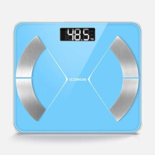 Smart Bathroom Weight Scale Body Fat Weighing Scales Floor Human Body Weight Scale Body Balance Bluetooth Best Gift Blue