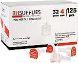 BH Supplies Pen Needles 32 Gauge - 5/32', 4mm (Pack of 125)