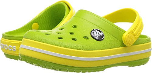 Crocs Kids' Crocband Clog, lavender/neon purple, 6 M US Children