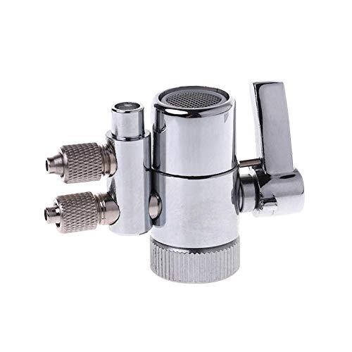 Cromado Filtro de Agua del Grifo de Doble derivación de la válvula...