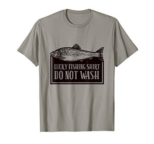 Lustige Fisch Hemd Geschenk für Mann Vati Oppa Lucky Fishing T-Shirt