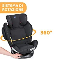 Chicco Unico Plus Seggiolino Auto 0-36 kg ISOFIX Reclinabile, Gruppo 0+/1/2/3 per Bambini da 0 a 12 Anni, Facile da Installare, Poggiatesta Regolabile, Protezione Laterale e Cuscino Riduttore, Nero #5