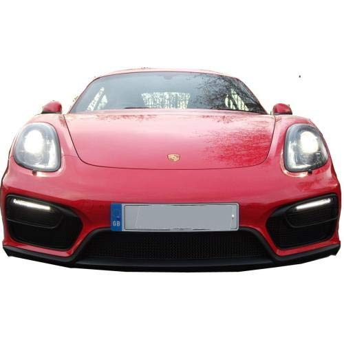 Zunsport Compatible with Porsche Cayman/Boxster 981 GTS - Front Grill Set - Black Finish (2014 to 2016)