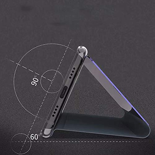Bakicey Huawei Mate 20 Pro Leder Hülle Mirror Case Spiegel Handyhülle PU Leder Flip Case Cover Handy Schutz Echtleder Stand Rückschale Bumper Tasche Schutzhülle für Huawei Mate 20 Pro (Rotgold) - 6