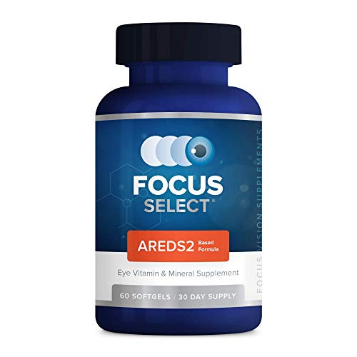 Focus Select® AREDS2 Based Eye Vitamin-Mineral Supplement - AREDS2 Based Supplement for Eyes (60 ct. 30 Day Supply) - AREDS2 Based Low Zinc Formula - Eye Vision Supplement and Vitamin