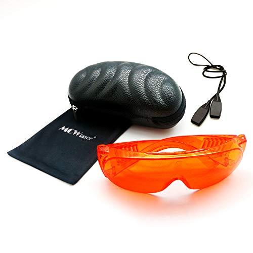MCWlaser Gafas de protección láser de Seguridad Gafas 190-540nm Típico para 355nm 405nm 445nm 447nm 450nm 460nm 473nm 515nm 520nm 532nm Tipo de absorción EP-3 Estilo 6