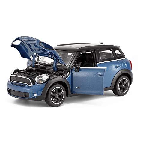 hclshops Modelo de Coche Modelo Mini Countryman 1,24 analógico a presión de aleaciones de Juguete Modelo de Coche 17x7.3x5.5CM (Color, Rojo), Azul (Color : Blue, Size : One Size)