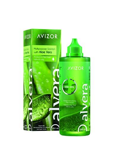 AVIZOR Alvera Kontaktlinsenflüssigkeit 1 × 350 ml im Etui. Lösung zur Reinigung und Desinfektion aller Arten von weichen Kontaktlinsen.