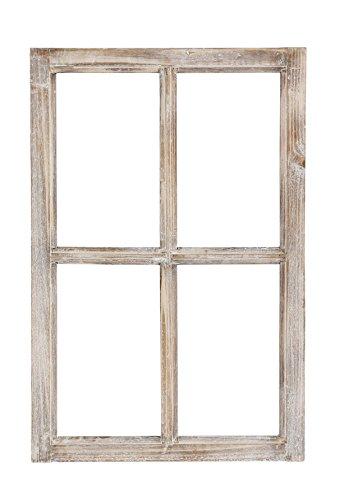 Nostalgie Holz Deko Fenster Holz natur gewischt 40 x 2 x 60 cm