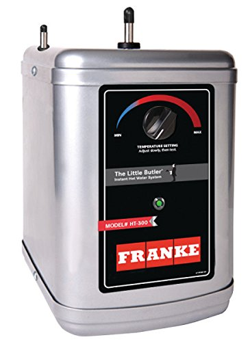 FRANKE HT-300 Little Butler Under Sink Instant Hot Water Filtration Heating Tank, 300-Watt (Latest Version), Compact, Silver and Black
