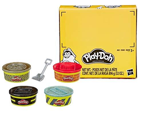 Play-Doh Wheels Baustellen-Knete 4er-Pack mit extragroßen Dosen, 4 Farben