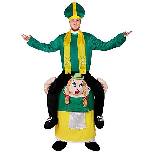 I LOVE FANCY DRESS LTD Disfraz A Hombros DE Mujer Bavaria para Adultos con Disfraz DE Sacerdote Verde(XL)