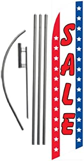 Sale Advertising Feather Banner Swooper Flag Sign with Flag Pole Kit and Ground Stake for Businesses
