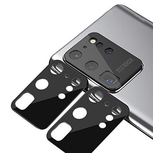 xinyunew Geeignet für Samsung Galaxy S20 Ultra Kamera Panzerglas Schutzfolie 2 PCS Objektiv Folie Len Protector Kamera Schutzglas Rückseite Camera Glasfolie 9H Festigkeit Zubehör Wasserdicht - Schwarz