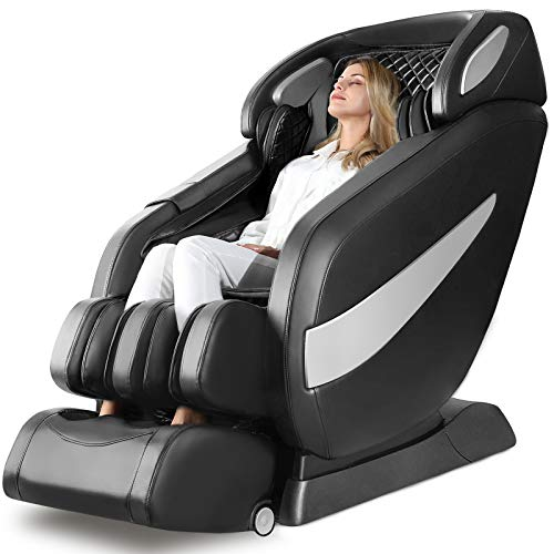 Massage Chair, Zero Gravity SL Track Massage Chair, Full Body Shiatsu Massage Chair Recliner with Space Saving, Auto Body Detection, Thai Stretching, Bluetooth Speaker, Heat, Foot Roller Ugears B-L1
