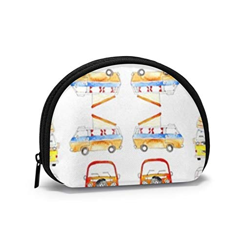 Campervans Red Coin Purse Change Cash Bag Zipper Small Purse Wallets Cosmetic Bag Storage Bag