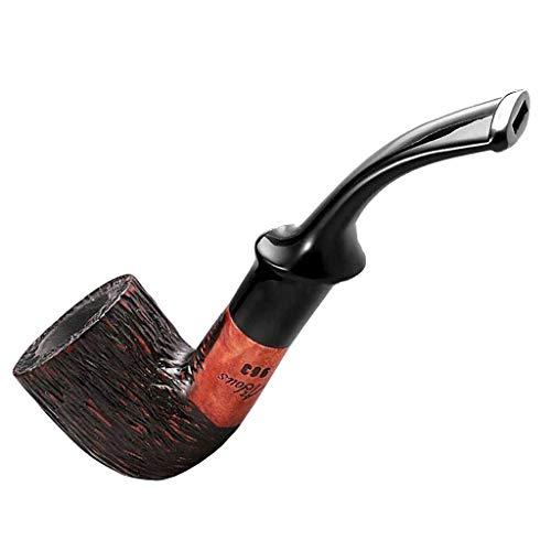 LYQZ Tubería for Fumar Tabaco, Accesorios for Fumar tallados a Mano de Madera Briar con Caja de Regalo