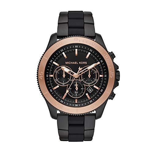 Michael Kors herenhorloge chronograaf kwarts horloge met roestvrij stalen armband MK8666