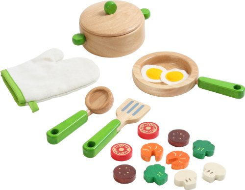 Voila S032N(8) - Pretend and Play Wooden Kitchenware