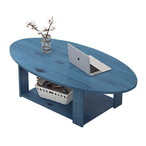 N/Z Wohnausstattung 2-stufige Couchtische aus Holz mit Stauraum Einfach zu montierender Beistelltisch Eingangstisch im nordischen Stil für Wohnzimmer Schlafzimmer Balkon Blue Pine A.