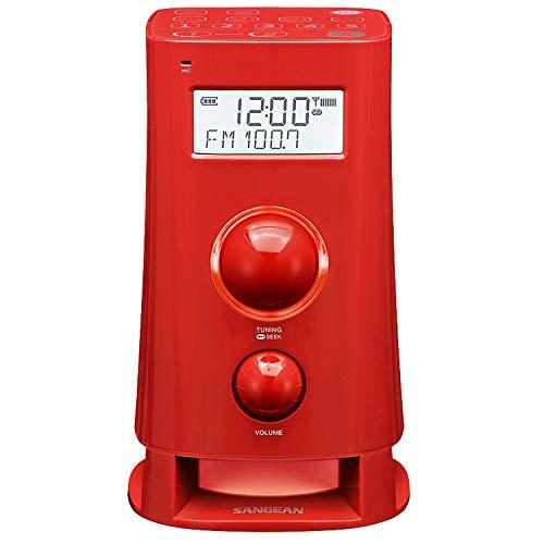 Sangean K-200 R Alarm-Radio (UKW/MW Tuner, LCD) Rot
