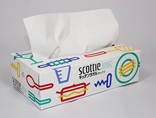 スコッティキッチンタオルボックス150枚(75組)3箱パック