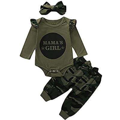 Amazon - Save 40%: Truly One Baby Girl Mama's Girls Outfit Camouflage Pants Set