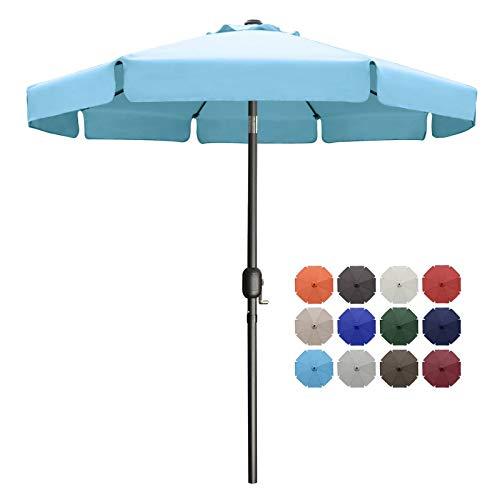 MasterCanopy 270cm Sonnenschirm Fe-Al Market Tischschirm im Freien mit 8 stabilen Rippen,türkis