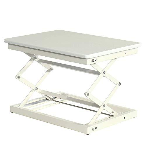 YIJIAHUI Escritorio de pie para computadora portátil, altura ajustable, 50 cm de largo y 37 cm de ancho, convertidor de escritorio (tamaño: tamaño libre; color: blanco)