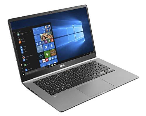 LG Gram 8th Gen Intel Core i5-8265U 14-inch IPS Full HD (1920X1080) Thin and Light Laptop (8GB/256GB SSD/Windows 10 64-bit/Dark Silver/995gms), 14Z990