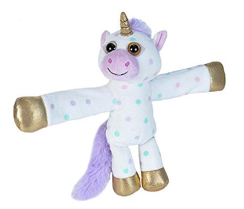 Wild Republic Huggers Unicorn Plush, Slap Bracelet, Stuffed Animal, Kids Toys, Unicorn Party Supplies, 8 inches