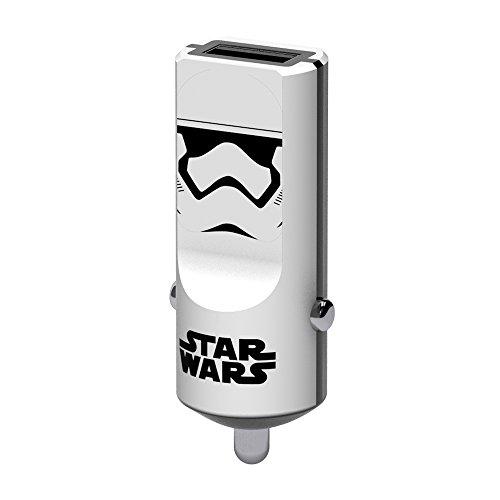 Tribe Star Wars 2.4 A Cargador de coche Fast Charge I USB Cargador Universal para iPhone, iPad, Smartphone Samsung Galaxy, Huawei, LG, Nexus - Stormtrooper