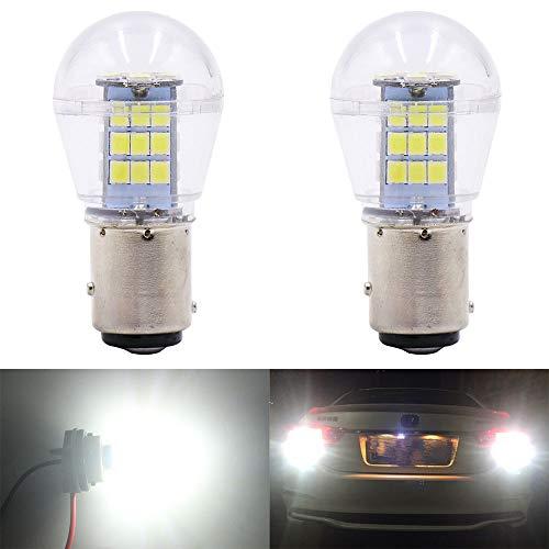 Qoope -2-Stück 9V-24V DC 1157 Glühlampe Ersetzt das 1034 7528 2057 2357 Base - Hohe Helligkeit Licht Für Blinker (Weiß)
