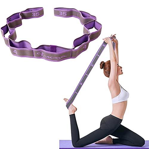 BONHHC Banda de tensión de Yoga Banda de Fitness Pula Banda de Resistencia Antideslizante