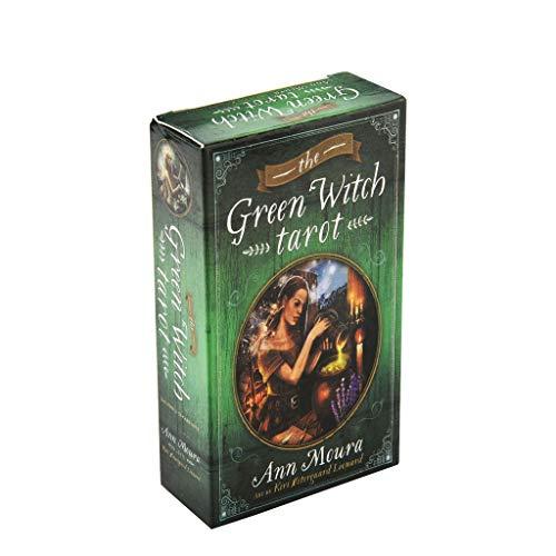 DALIN The Green Witch Tarot Karten Deck Party Brettspiel Oracle Playing Card 78 Stück