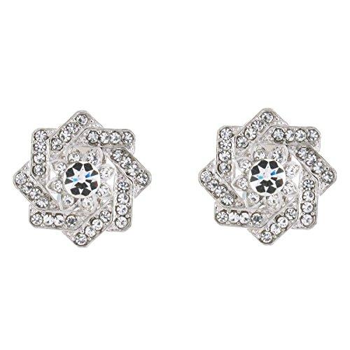 Clip op oorbellen winkel zilver & kristal ster clip op oorbellen
