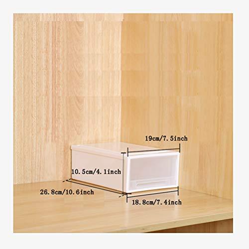 AQSG Boîte De Rangement, Paquet De 3, Plastique, Transparent, Bac De Rangement Cube