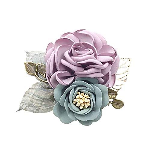 WFF Broche de Moda Broche - Tela Tela Flor Broche Camisa Cuello Retro Ladies Pines y Broches Vestido Camisa Cuello Accesorios Decora tu Ropa (Color : #2)