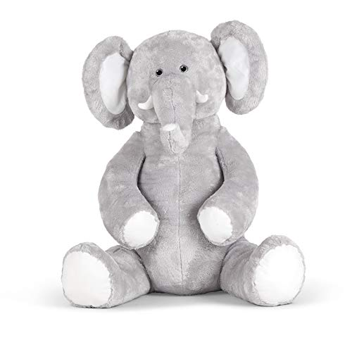 Melissa & Doug Gentle Jumbo Elephant Giant Stuffed Plush Animal (Sits Nearly 3 Feet Tall)
